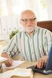 Senior professor working in his study Royalty Free Stock Images