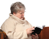 Senior Reading Stock Photos