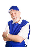 Senior Retail Greeter Stock Photography