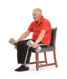 Senior retired man exercising Royalty Free Stock Image