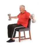 Senior retired man exercising Stock Images