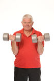 Senior retired man exercising Stock Photos