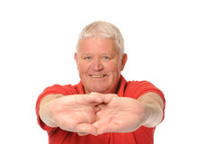 Senior retired man stretching Stock Images