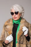 Senior Rich Woman Royalty Free Stock Images