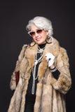 Senior rich woman stock image