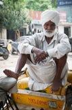 Senior rickshaw is waiting for passengers Stock Photography