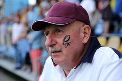 Senior rugby supporter Royalty Free Stock Photos
