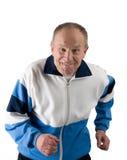 Senior runer (2). Active senior in a sportsuit running (2 Royalty Free Stock Photo