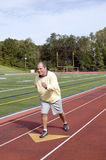 Senior  running  sports field running Royalty Free Stock Images