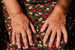 Senior's hands Royalty Free Stock Photography
