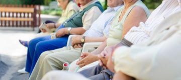 Senior's hands Royalty Free Stock Images