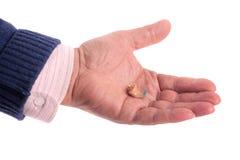 Senior's hearing aid Royalty Free Stock Image