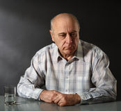 Senior sad man royalty free stock photos