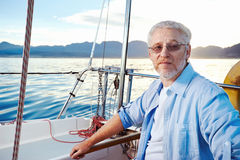 Senior sailing Stock Image