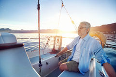 Senior sailing Stock Photography