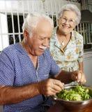Senior salad.. Royalty Free Stock Photo
