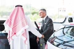 Senior salesman arabian man Royalty Free Stock Photography
