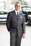 Senior salesman showroom Royalty Free Stock Images