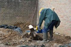 Senior sawing Royalty Free Stock Image