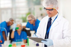 Senior scientist report Royalty Free Stock Image