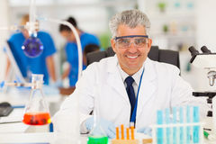 Senior scientist working Stock Photos