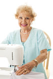 Senior Seamstress Stock Photography