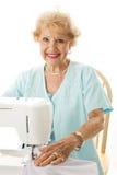 Senior Seamstress Stock Photography