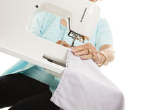 Senior Sewing Hands Royalty Free Stock Images