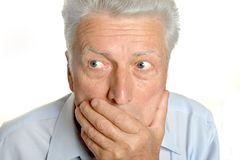 Senior shocked man Royalty Free Stock Photography