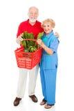 Senior Shoppers Full Body Royalty Free Stock Image