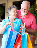 Senior Shoppers - Look What I Got Royalty Free Stock Photography