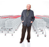 Senior at shopping Stock Images
