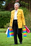 Senior shopping woman Royalty Free Stock Photos