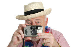 Senior Shutterbug Stock Images