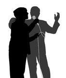 Senior singing duet Stock Photo