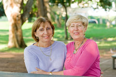 Senior sisters Stock Photography