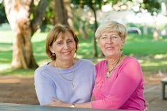 Senior sisters Stock Photography