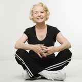 senior sitting woman Στοκ εικόνες με δικαίωμα ελεύθερης χρήσης