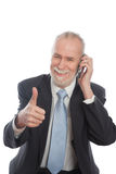 Senior with smart phone Royalty Free Stock Images