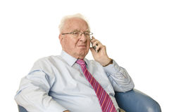 Senior with smartphone Royalty Free Stock Photo