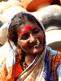 Senior Smiles. A poor Indian senior woman smiling Stock Image
