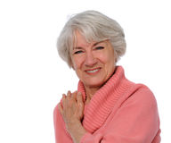 Senior Smiling Royalty Free Stock Images