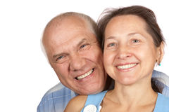Senior smiling couple in love Stock Image