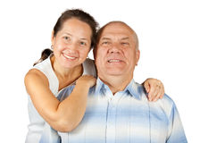 Senior smiling couple in love Royalty Free Stock Photos