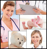 Senior Smiling doctor with his colleagues Stock Photo