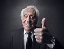 Senior smiling Royalty Free Stock Photos