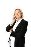Senior smiling on phone call Stock Photography