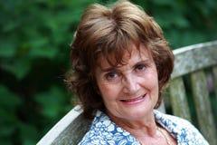 senior smiling woman Στοκ Εικόνα