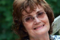 senior smiling woman Στοκ Εικόνες