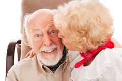 Senior Smooch Stock Images